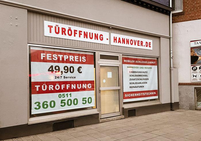 Ladengeschäft Türöffnung Schlüsseldienst Hannover